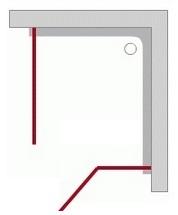 Sprch.kúty - Otváracie dvere