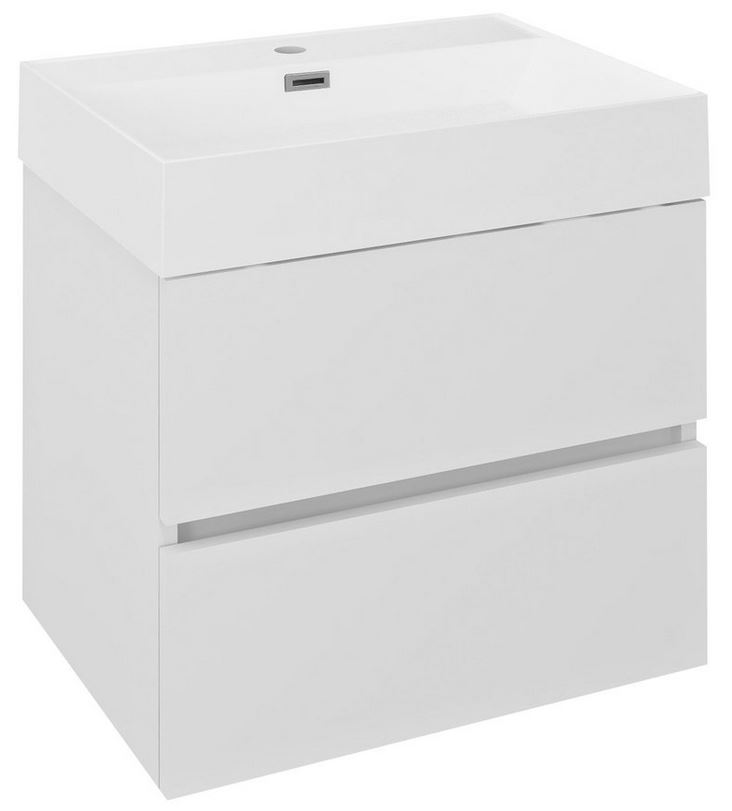 ODETTA skrinka s umývadlom 60 cm biely lesk