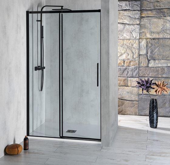 Polysan ALTIS LINE BLACK čierne posuvné sprchové dvere 110-160 cm