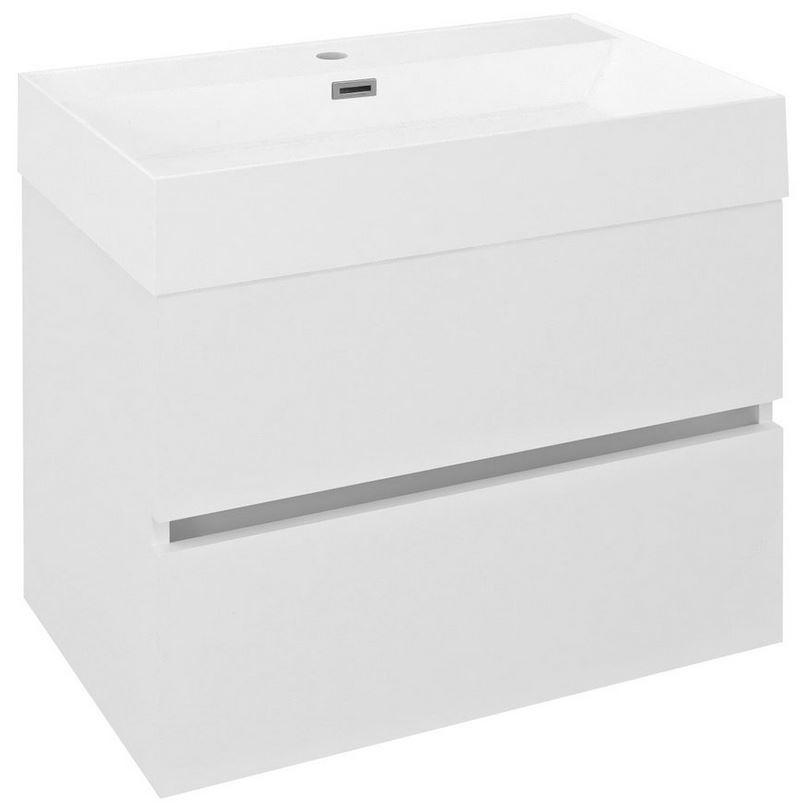 ODETTA skrinka s umývadlom 70 cm biely lesk
