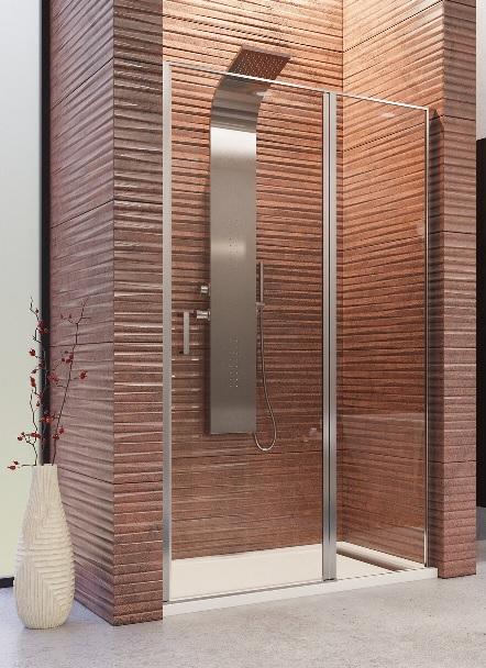 Aquatek YES B5 sprchové dvere s pevnou stenou 90-140 cm