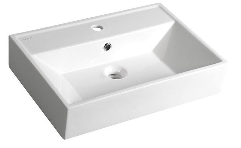 Aqualine SISTEMA keramické umývadlo 60 cm, s prepadom