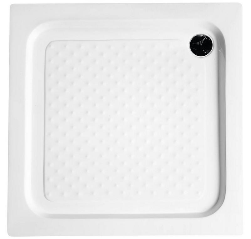 Aqualine štvorcová sprchová vanička s protišmykom a sifónom 80-90 cm