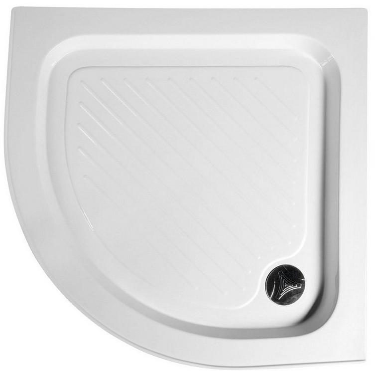 Aqualine štvrťkruhová sprchová vanička s protišmykom a sifónom 80-90 cm