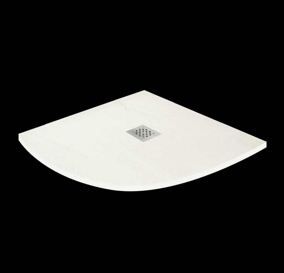 Aquatek TOP štvrťkruhová sprchová vanička 90x90 cm krémová