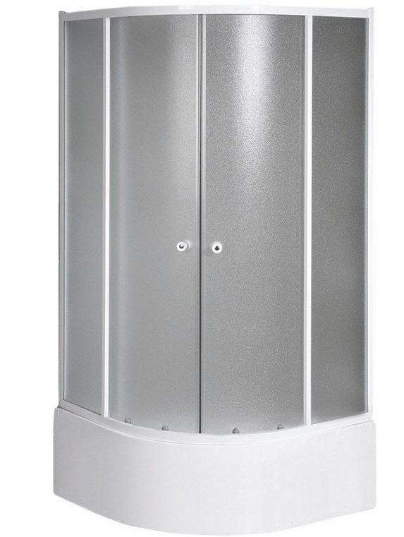 Aqualine ARLEN štvrťkruhový sprchový kút 80-90 cm nízky