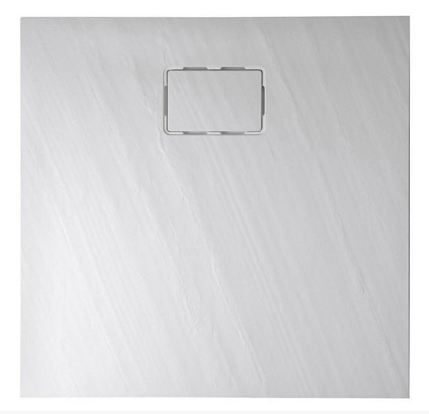 ATIKA štvorcová sprchová vanička z liateho mramoru 90x90cm