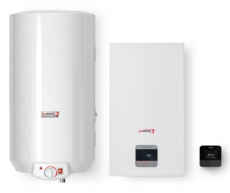 Protherm Aqua Complet PANTHER CONDENS 15 KKO plynový kotol + WE 100 ME zásobník + termostat