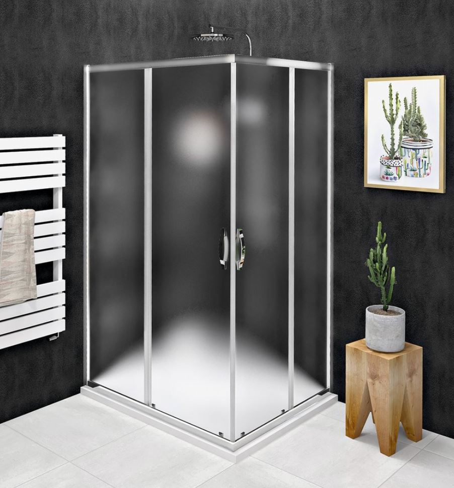Gelco SIGMA SIMPLY obdĺžnikový sprchový kút 90x80/100x80/100x90 cm sklo Brick