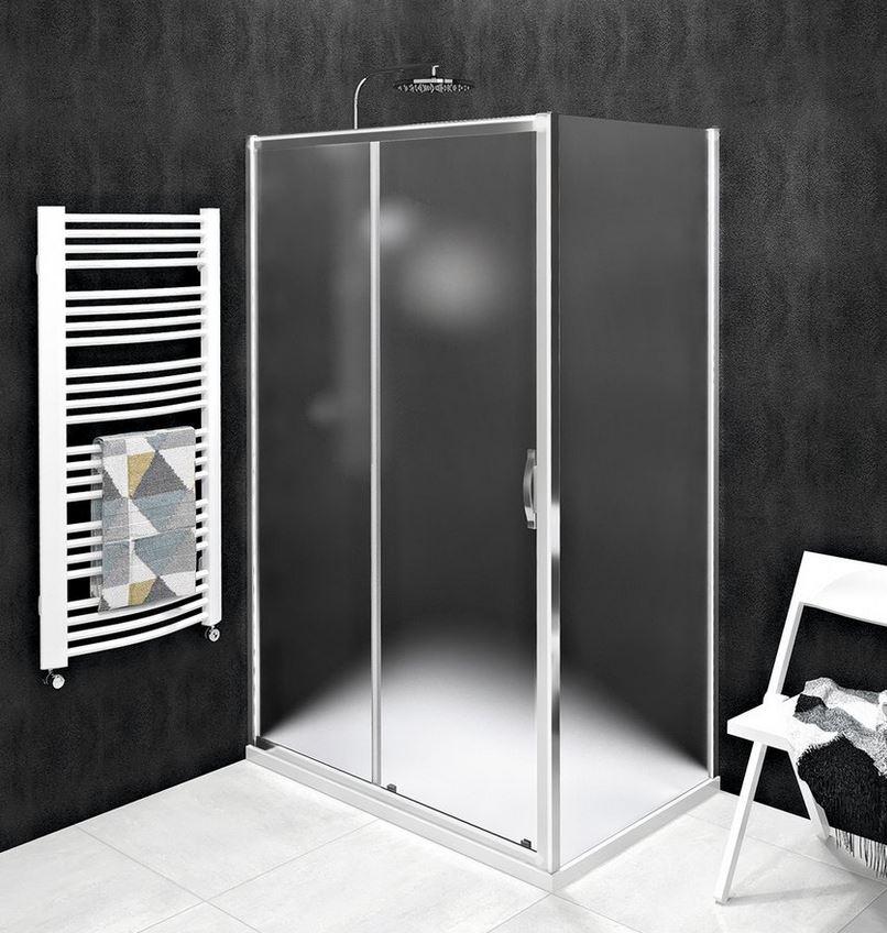 Gelco SIGMA SIMPLY obdĺžnikový sprchový kút 100-120 x 70-100 cm sklo Brick