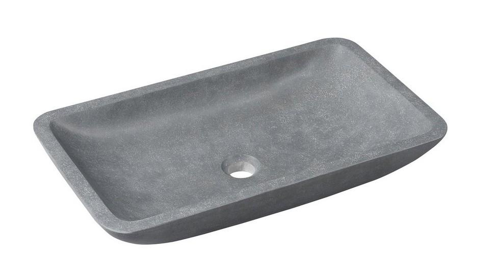 BLOK kamenné umývadlo na dosku 60 cm matné