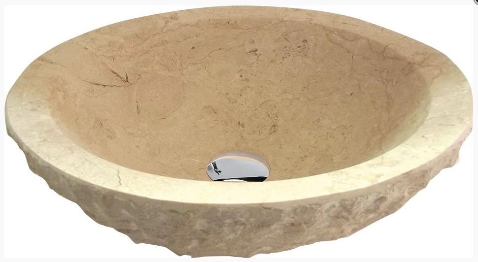 BLOK kamenné umývadlo na dosku 45 cm