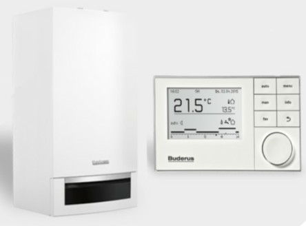Buderus Logamax+ so vstavaným zásobníkom GB172-24T 50 +termostat RC300