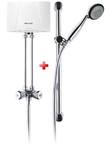 Clage malý prietokový ohrievač M 4/6/7 BGS so sprchou beztlakový