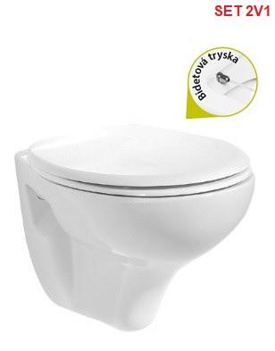 Creavit WC bidet 2v1 STANDARD + sedátko s pomalým sklápaním