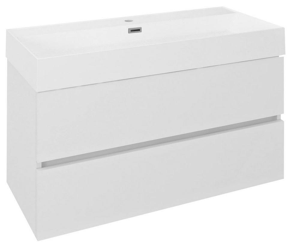ODETTA skrinka s umývadlom 100 cm biely lesk