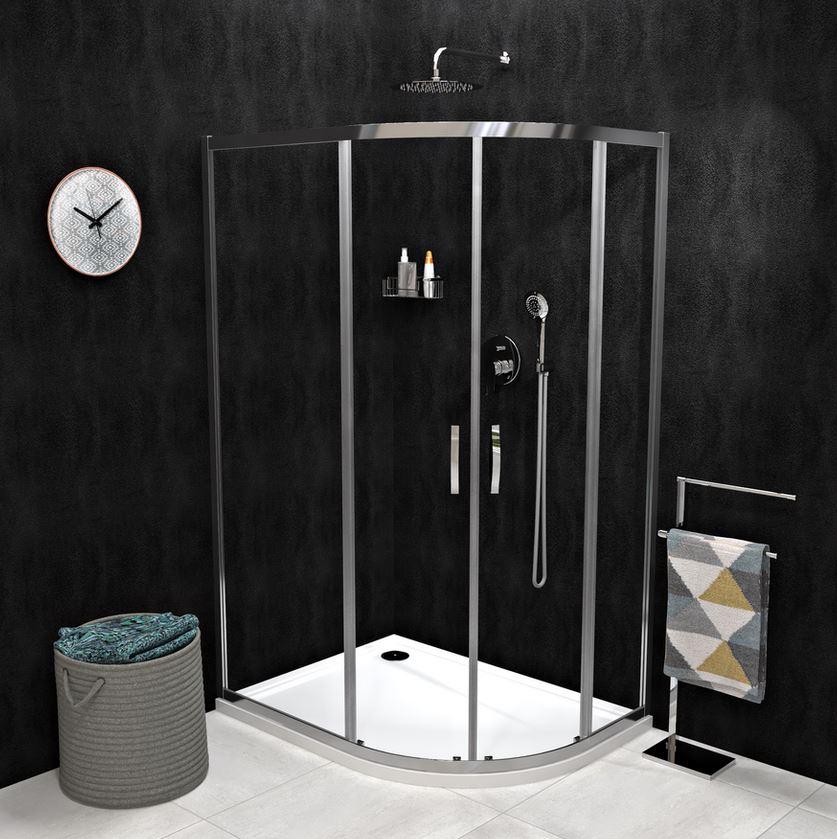 Gelco SIGMA SIMPLY asymetrický štvrťkruhový sprchový kút s posuvnými dverami 100x80/120x90 cm