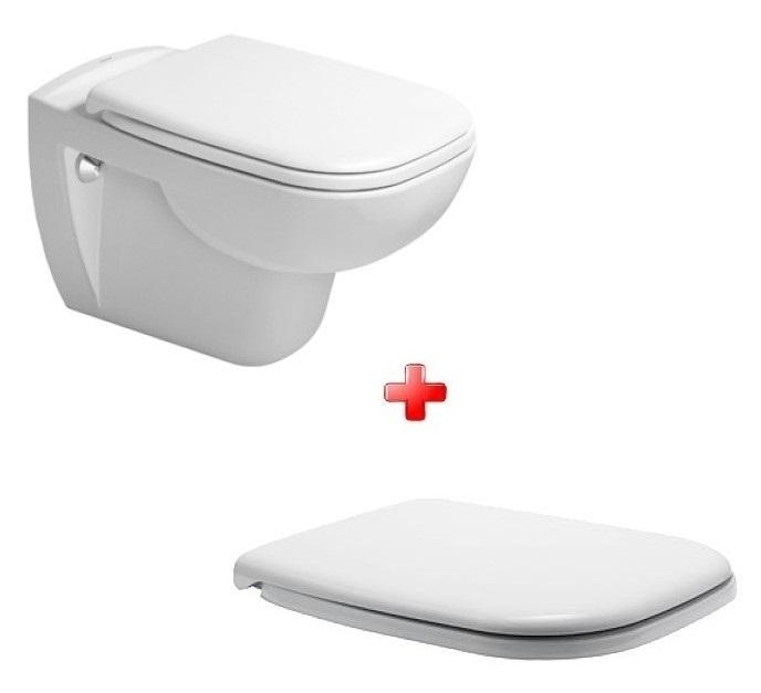 Duravit WC misa D-CODE SET 2v1 Rimless