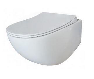 SAM FLUENTA WC misa závesná Rimless + sedátko SoftClose