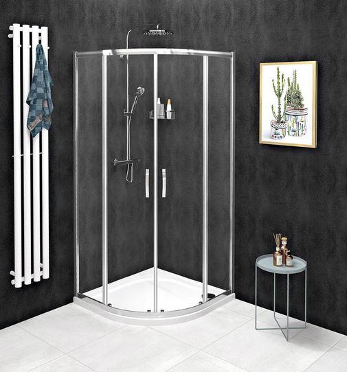 Gelco SIGMA SIMPLY štvrťkruhový sprchový kút s posuvnými dverami 80-100 cm číre sklo