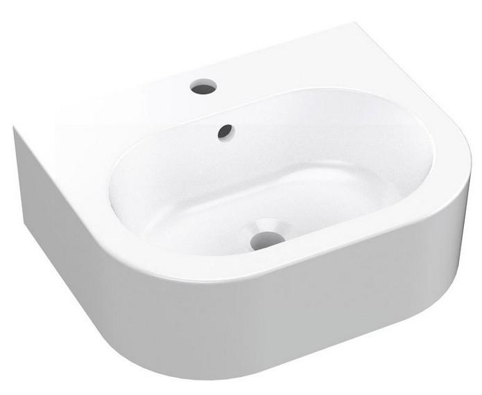 FLO keramické umývadlo 50 cm biele
