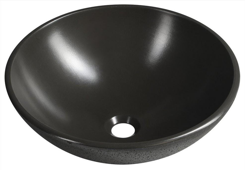 FORMIGO betónové umývadlo na dosku 40 cm antracitové