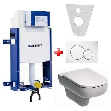 GEBERIT SET 5 v 1: Kombifix Eco + Kolo Traffic WC Rimless, Reflex Kolo
