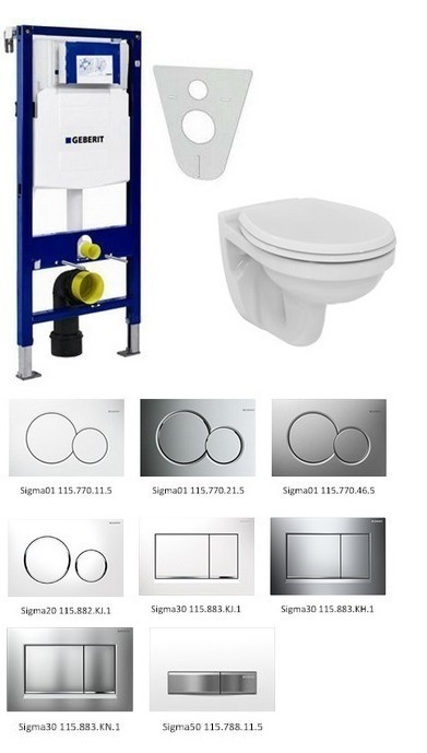 Geberit SET 5 v 1: Duofix + Ideal Standard