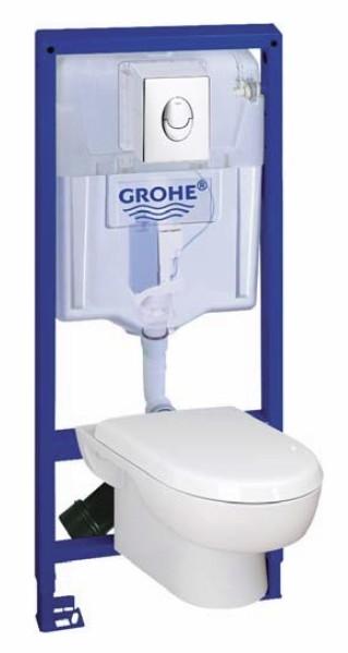 Grohe SOLIDO SET 4 v 1: RAPID SL modul + WC misa + WC sedátko + ovlád.tlačítko