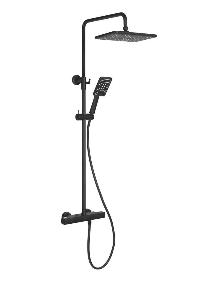INDUSTRIAL termostatický sprchový stĺp matná čierna