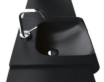 INKA umývadlo na dosku čierne 40 cm