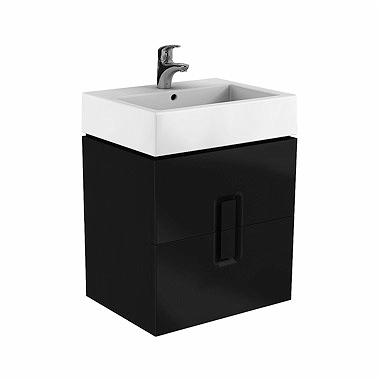 Kolo TWINS skrinka pod umývadlo 60 cm s 2 zásuvkami čierna matná 89494