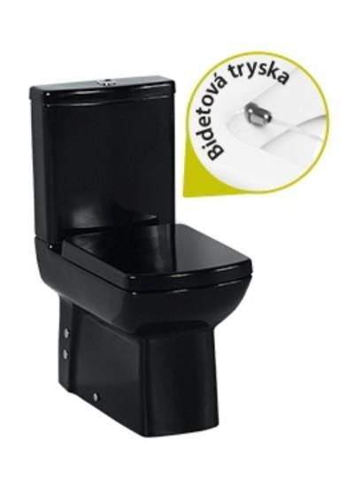 Creavit LARA kombi WC+Bidet 2v1 čierna