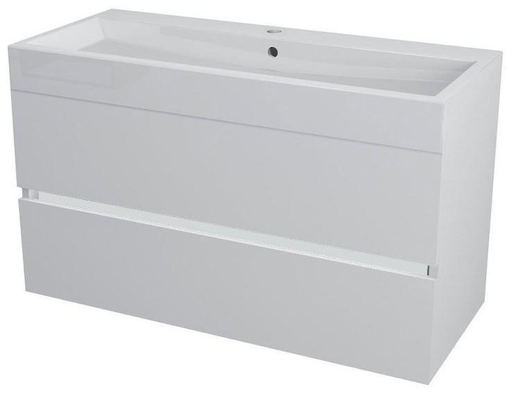 LARGO skrinka s umývadlom 100 cm biela
