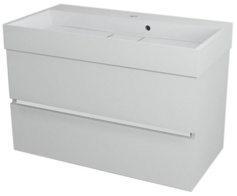 LARGO skrinka s umývadlom 90 cm biela