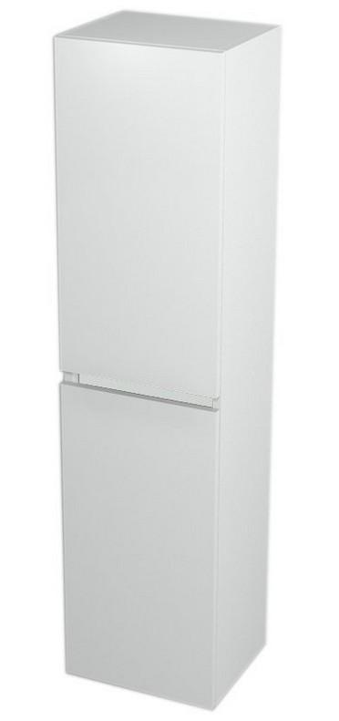 LARGO vysoká skrinka 140 cm biela