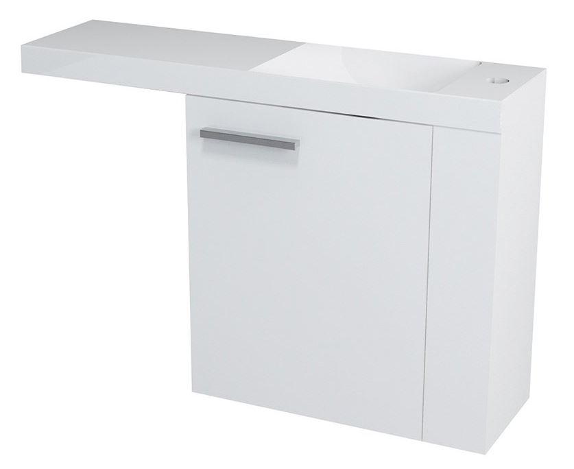 LATUS VI umývadlová skrinka 50 cm biela pravá