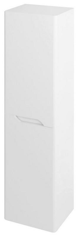 MEDIENA vysoká skrinka 140x35 cm matná biela
