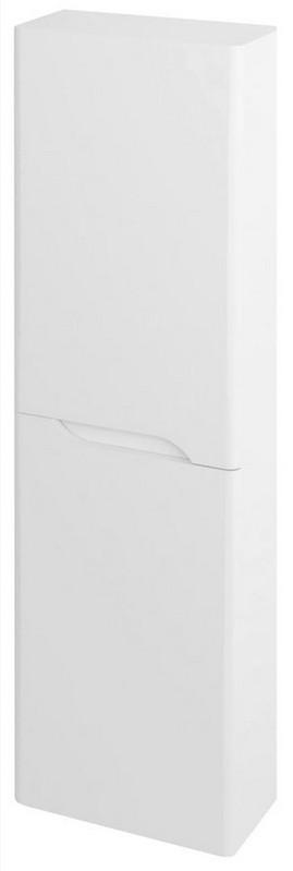 MEDIENA vysoká skrinka 140x40 cm matná biela