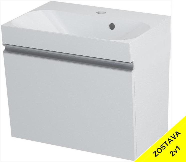 MELODY skrinka s umývadlom 50 cm biela