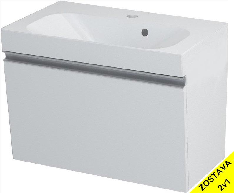 MELODY skrinka s umývadlom 60 cm biela