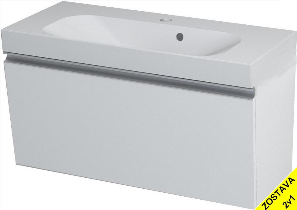 MELODY skrinka s umývadlom 80 cm biela