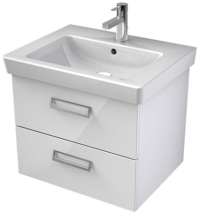 My Bath MYSWAY 2.0 umývadlová skrinka 60 cm s 2 zásuvkami biela