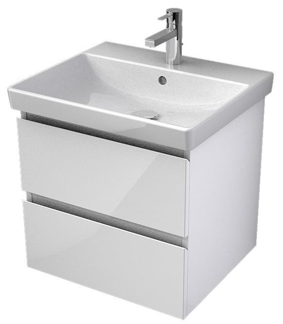 My Bath MYVENTO umývadlová skrinka 55 cm s 2 zásuvkami biela