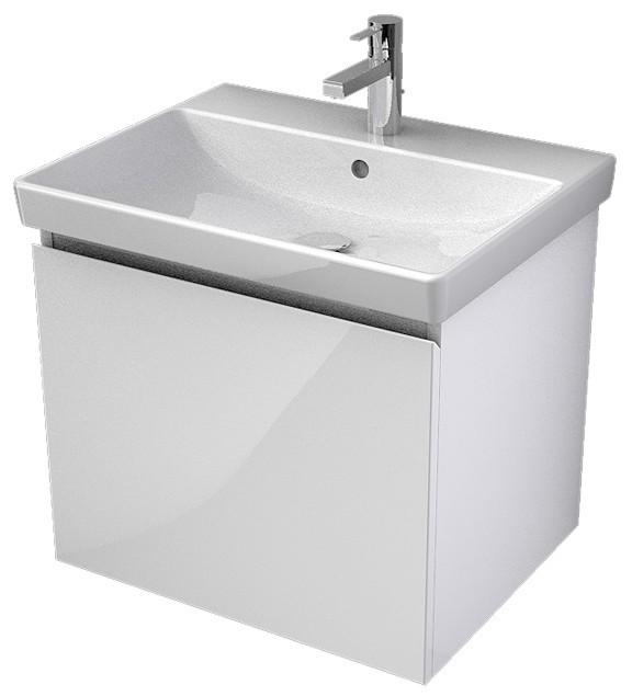 My Bath MYVENTO umývadlová skrinka 60 cm biela s 1 zásuvkou
