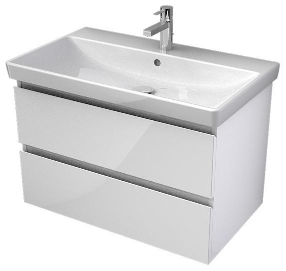 My Bath MYVENTO umývadlová skrinka 80 cm s 2 zásuvkami biela