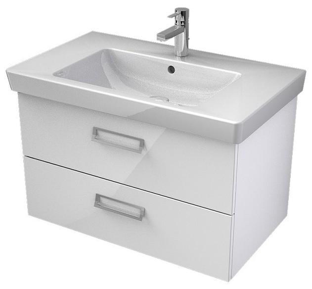 My Bath MYSWAY 2.0 umývadlová skrinka 80 cm s 2 zásuvkami biela