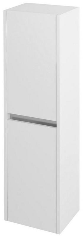 NIRONA vysoká skrinka 140x35 cm biela
