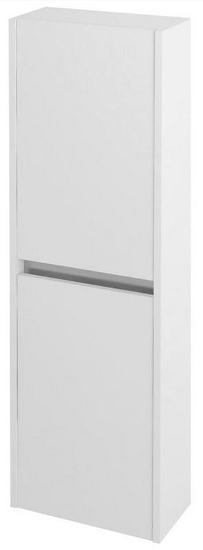 NIRONA vysoká skrinka 140x40 cm biela