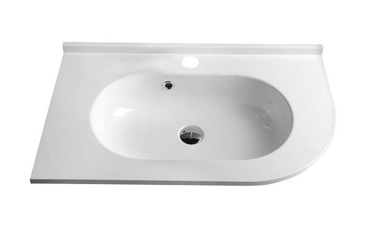PULSE umývadlo z liateho mramoru 75 cm ľavé